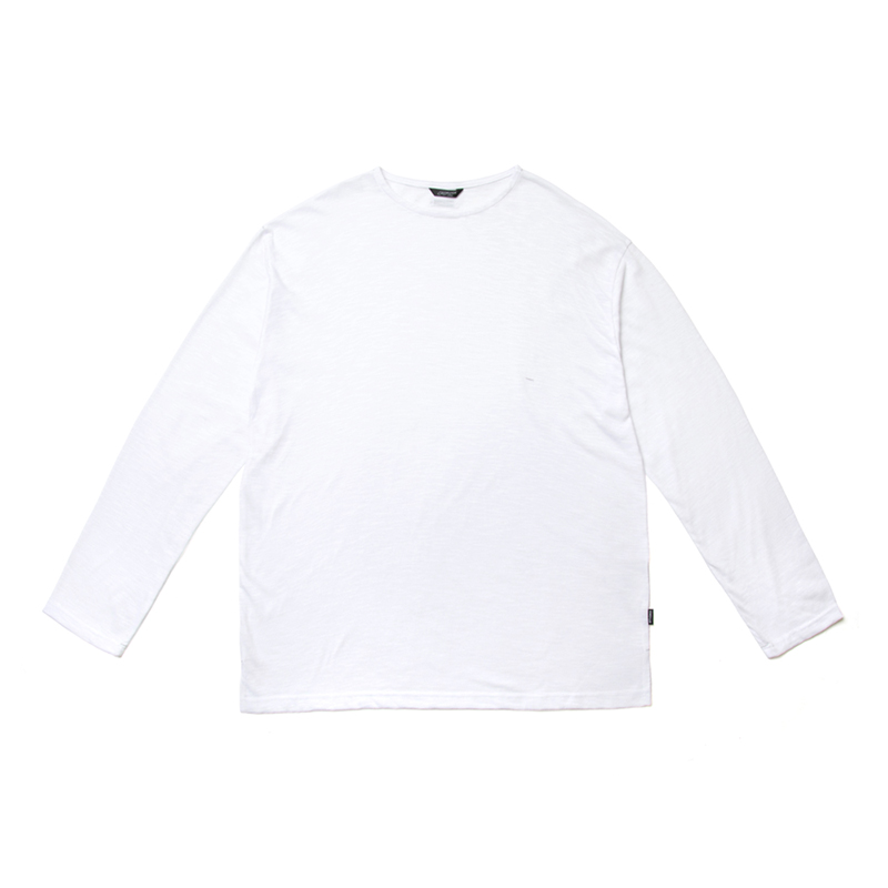 STIGMA LIGHT WEIGHT SEMI OVER LONG SLEEVES T-SHIRTS WHITE