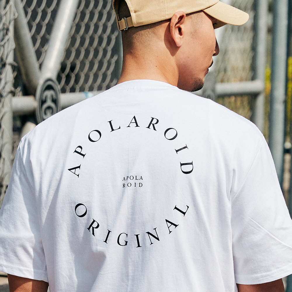 AP510FB APOLAROID CIRCLE T-SHIRT[WHITE]