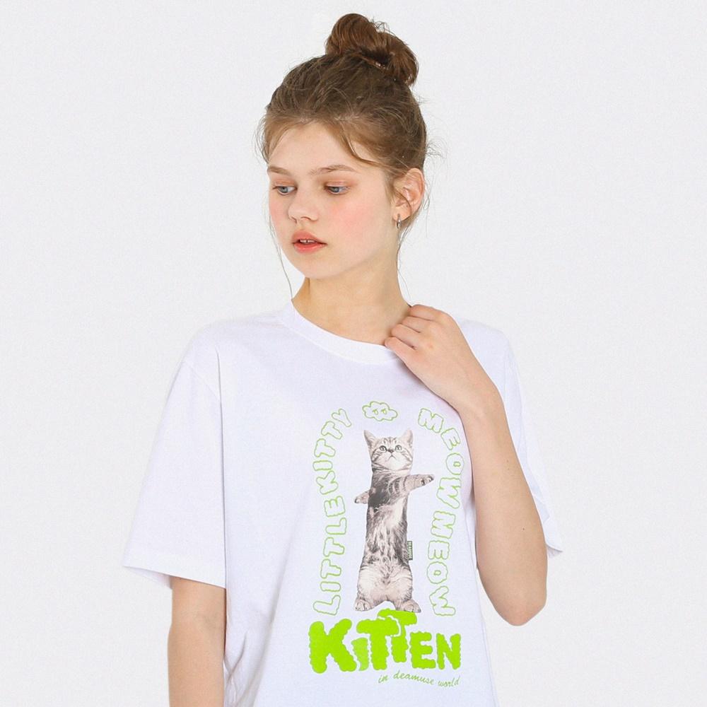 키튼클라우드 반팔 티셔츠-화이트