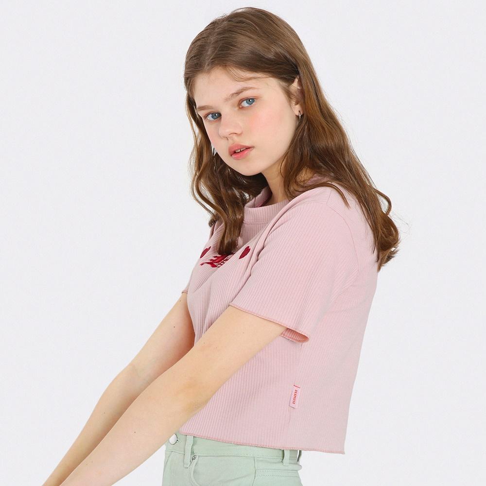 [단독한정]베이비 크롭 티셔츠-인디핑크