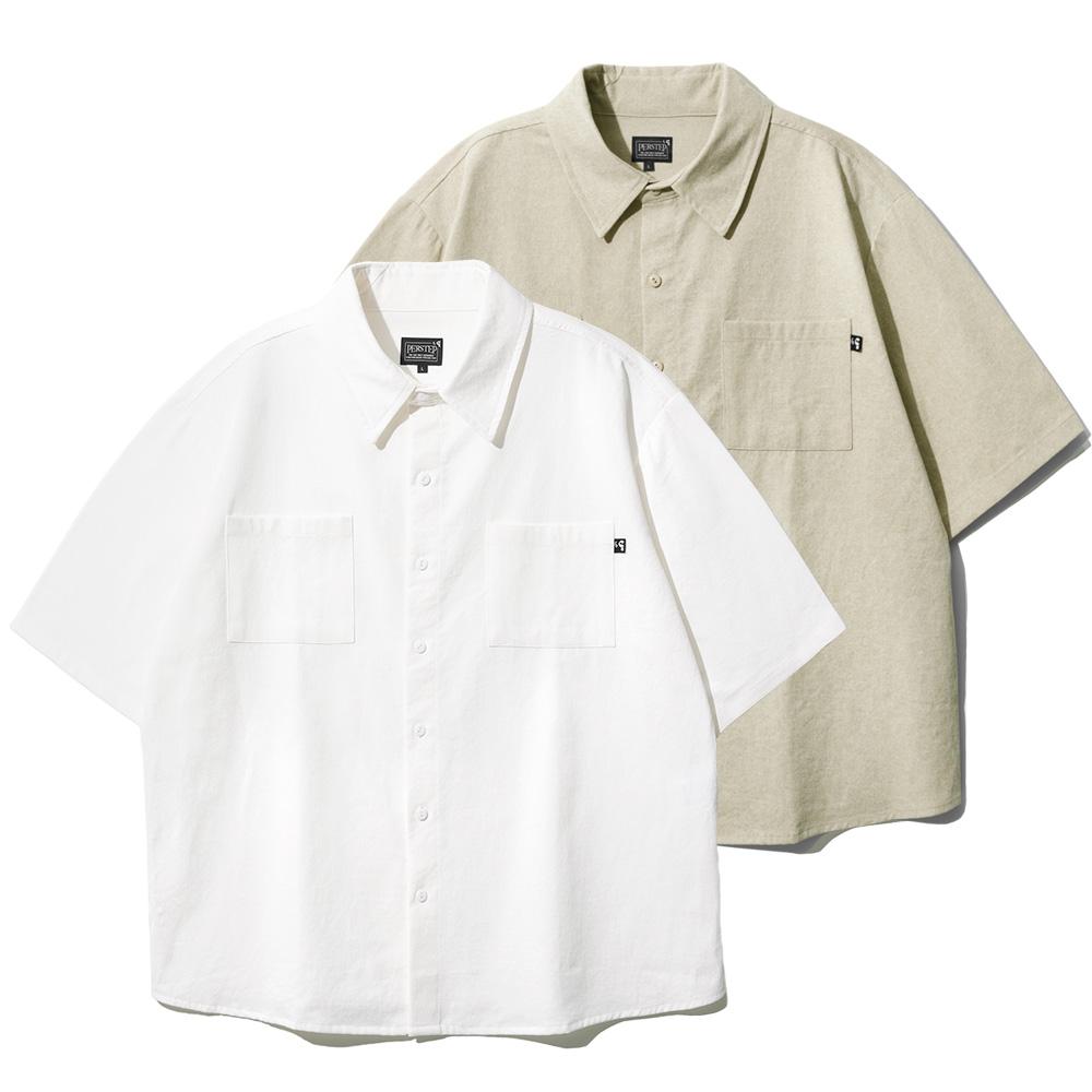 [퍼스텝][패키지] 2pack 피그먼트 루즈핏 반팔 셔츠 6종 SMSS4079
