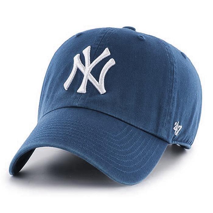 47브랜드 빅로고 NY 양키스 클린업 볼캡 팀버블루