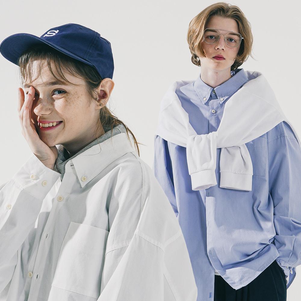 [더블유브이프로젝트][패키지] 더 오버핏 셔츠 2PACK JJLS7513