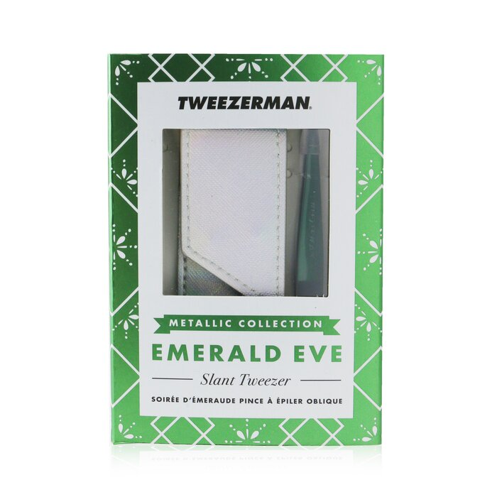 [트위저맨] Slant Tweezer with Pouch (Metallic Collection) - Emerald Eve