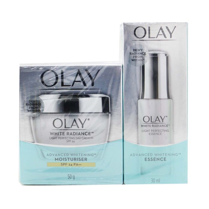 [올레이] Radiance Duo Set: Light Perfecting Essence 30ml + Light Perfecting Day Cream SPF 24