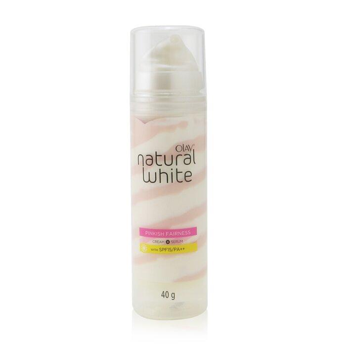 [올레이] Natural White Pinkish Fairness Cream + Serum SPF 15/PA++
