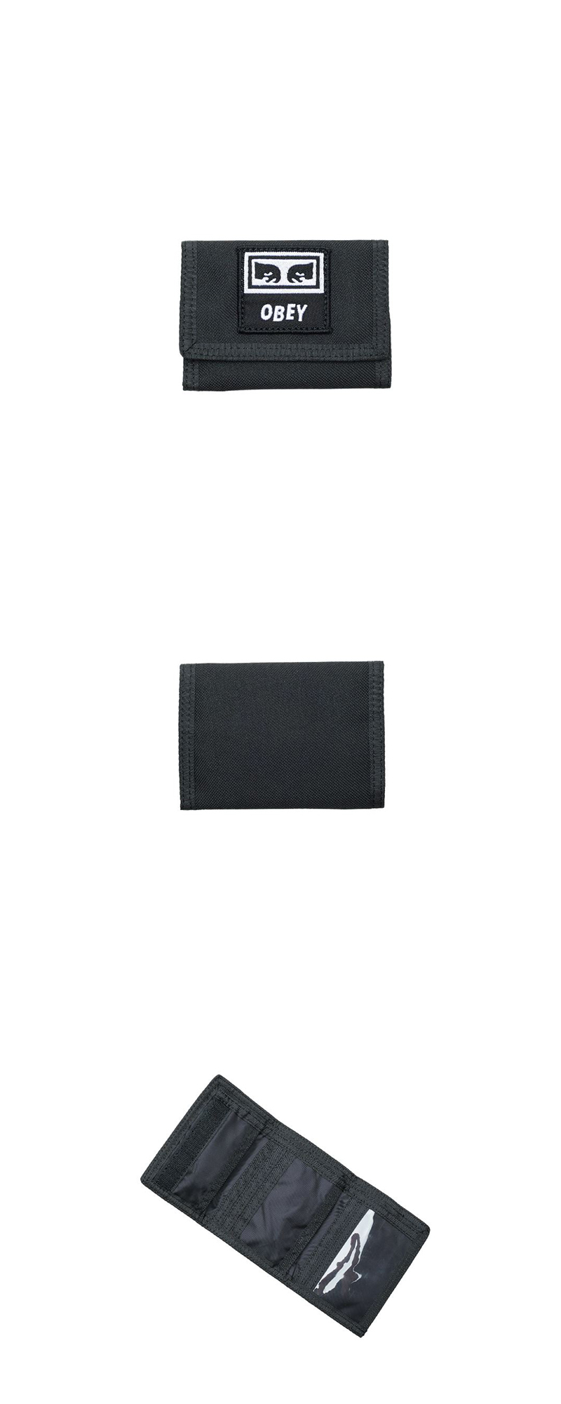 오베이 지갑 TAKEOVER TRI FOLD WALLET 100010122 BLACK