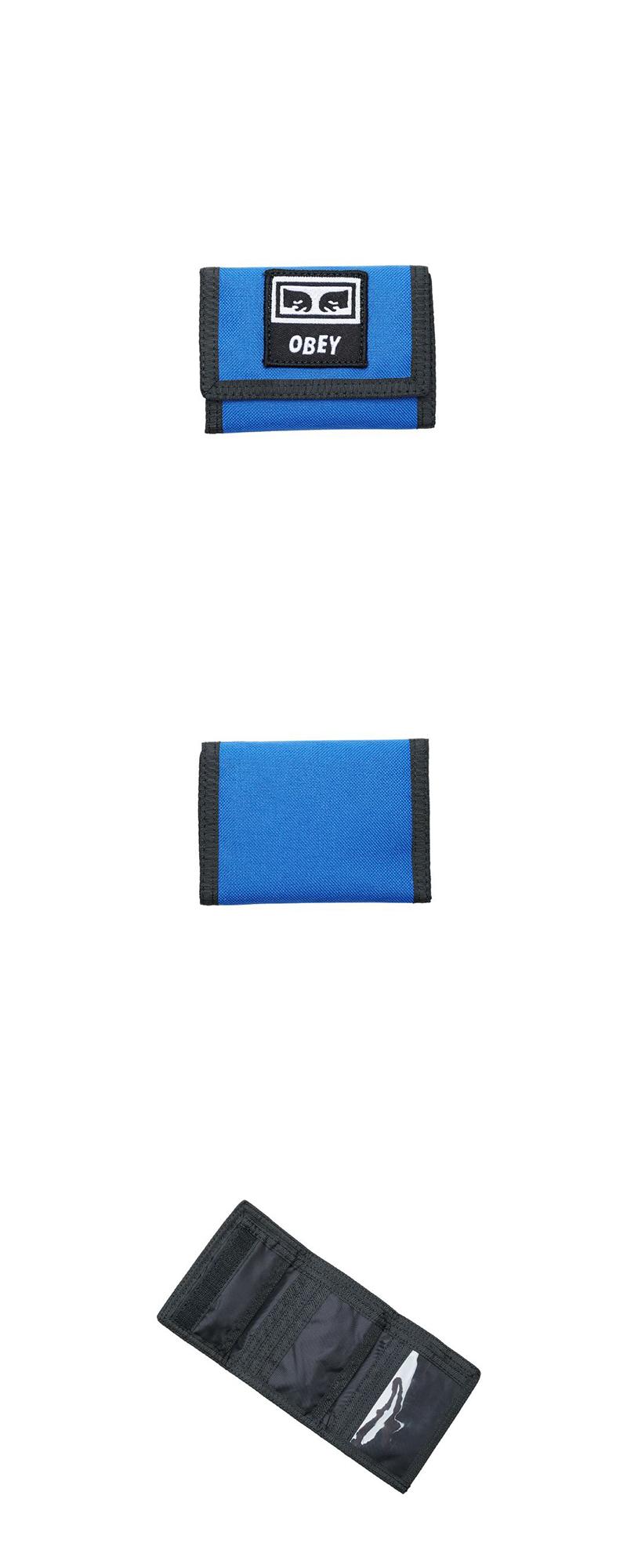오베이 지갑 TAKEOVER TRI FOLD WALLET 100010122 BLUE