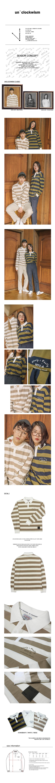 slowly fastly printing stripe collar t-shirt_beige.jpg