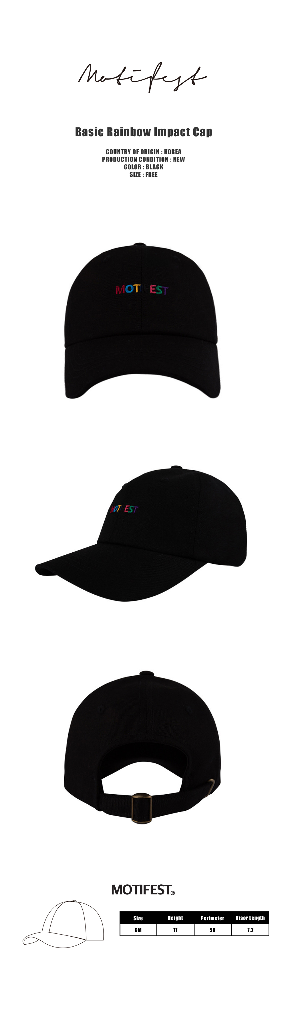 Basic Rainbow Impact Cap Black-1000.jpg
