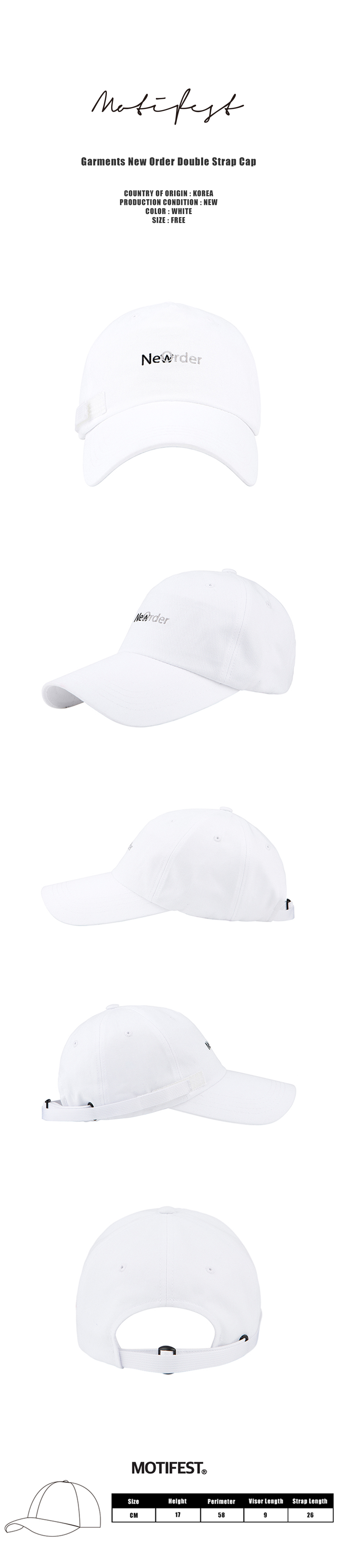 Garments New Order Double Strap Cap White-1000.jpg