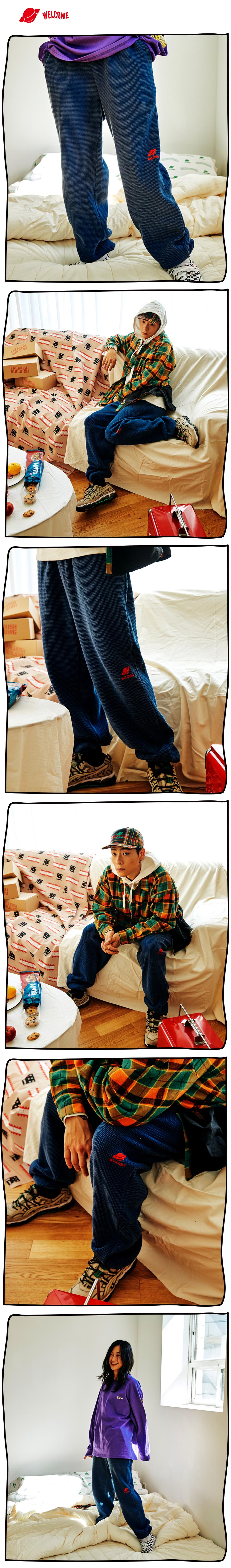 #03 FOLCOM WAFFLE LONG PANTS (NAVY) 01.jpg