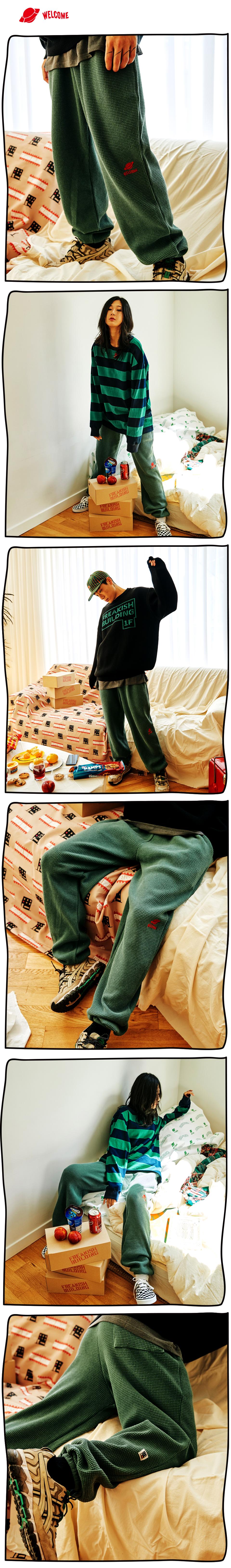 #03 FOLCOM WAFFLE LONG PANTS (GREEN) 01.jpg