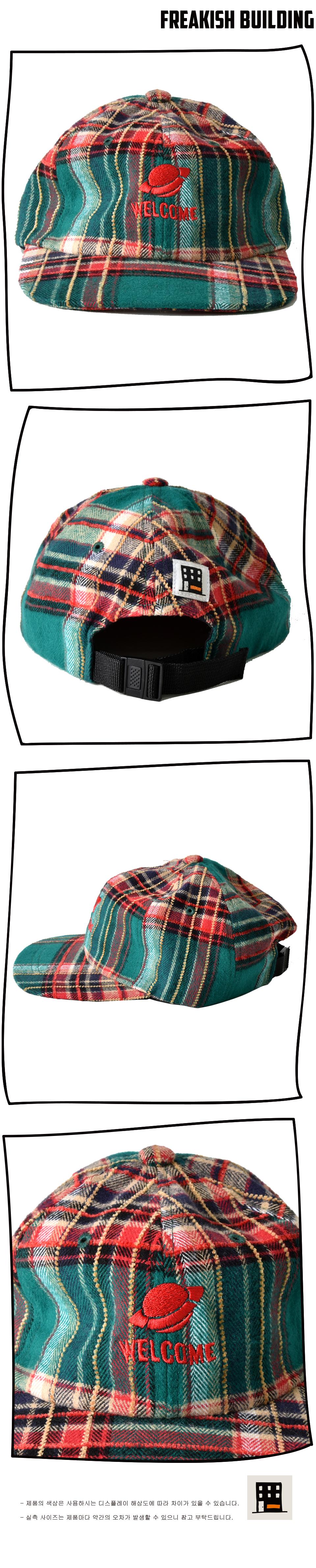 #29 FOLCOM CHECK FLAT CAP (GREEN) 03.jpg