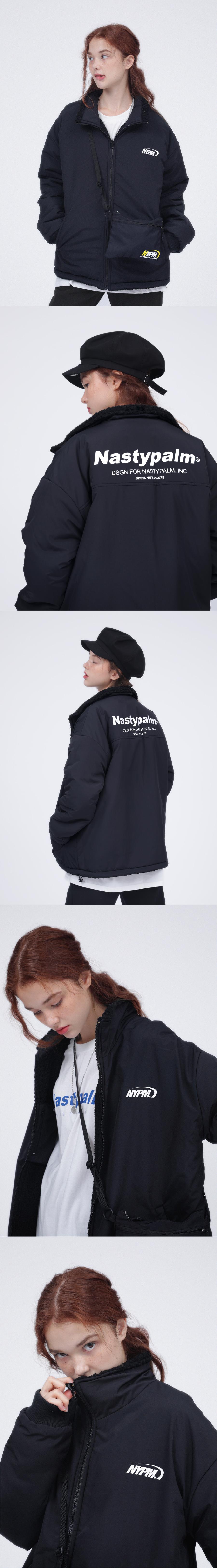 네스티팜(NASTY PALM) 네스티 플리스 리버시블 자켓 아이보리