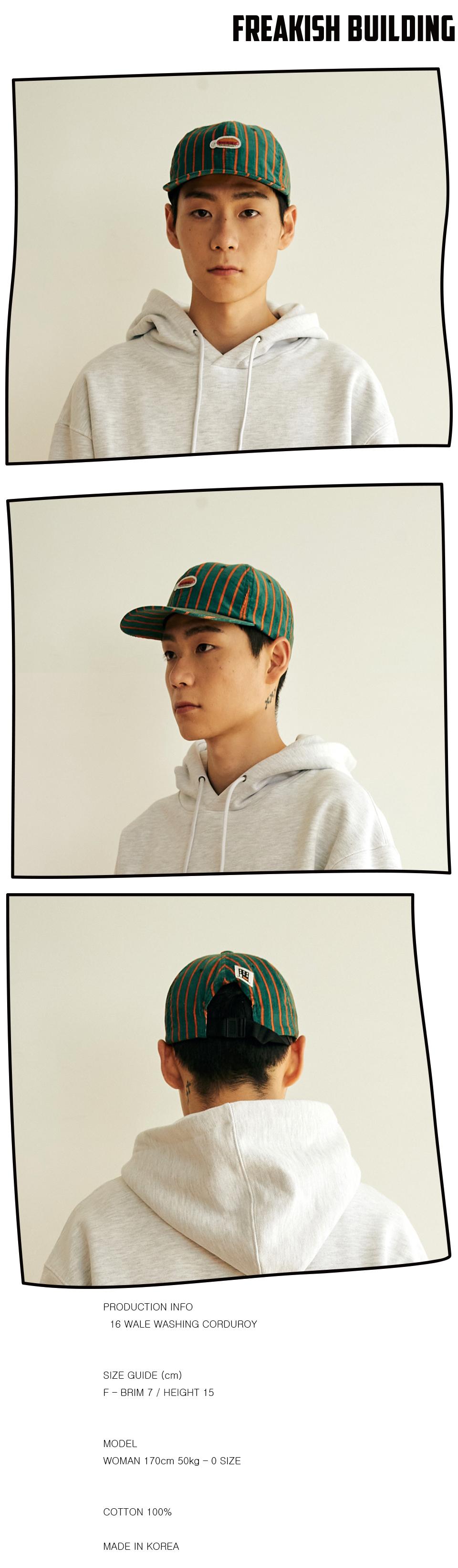 #32 DYNADOG CORDUROY FLAT CAP (GREEN) 02.jpg