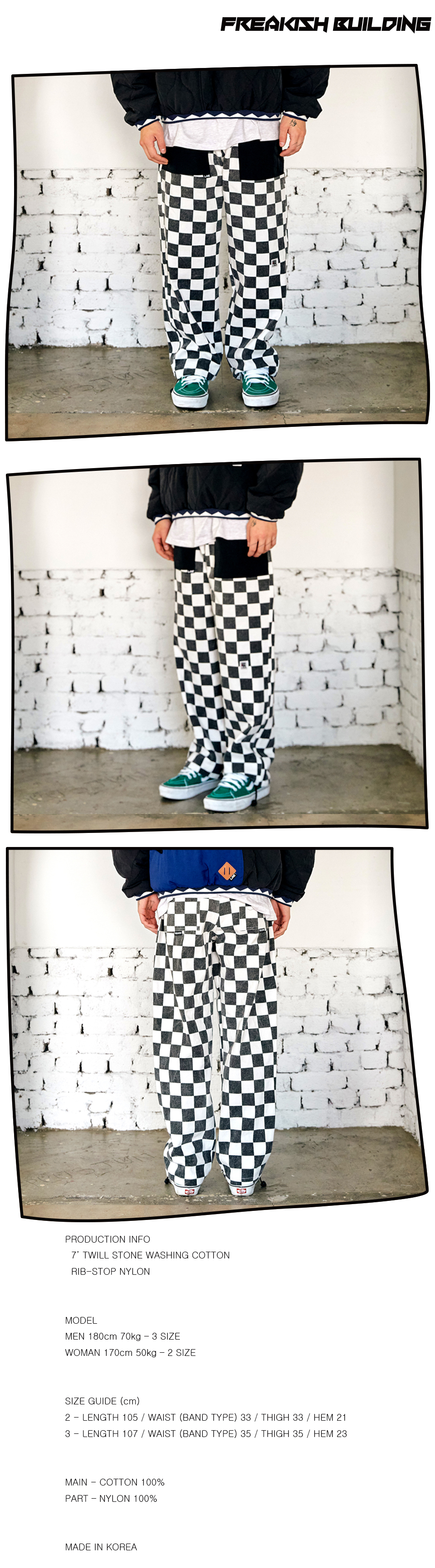 #15 RON CHECKER LONG PANTS (BLACK) 02.jpg