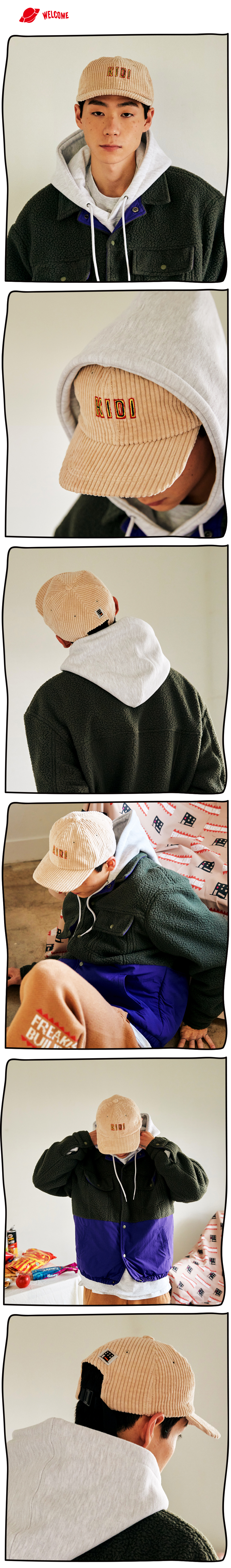 #31 KIDI CORDUROY FLAT CAP (BEIGE) 01.jpg