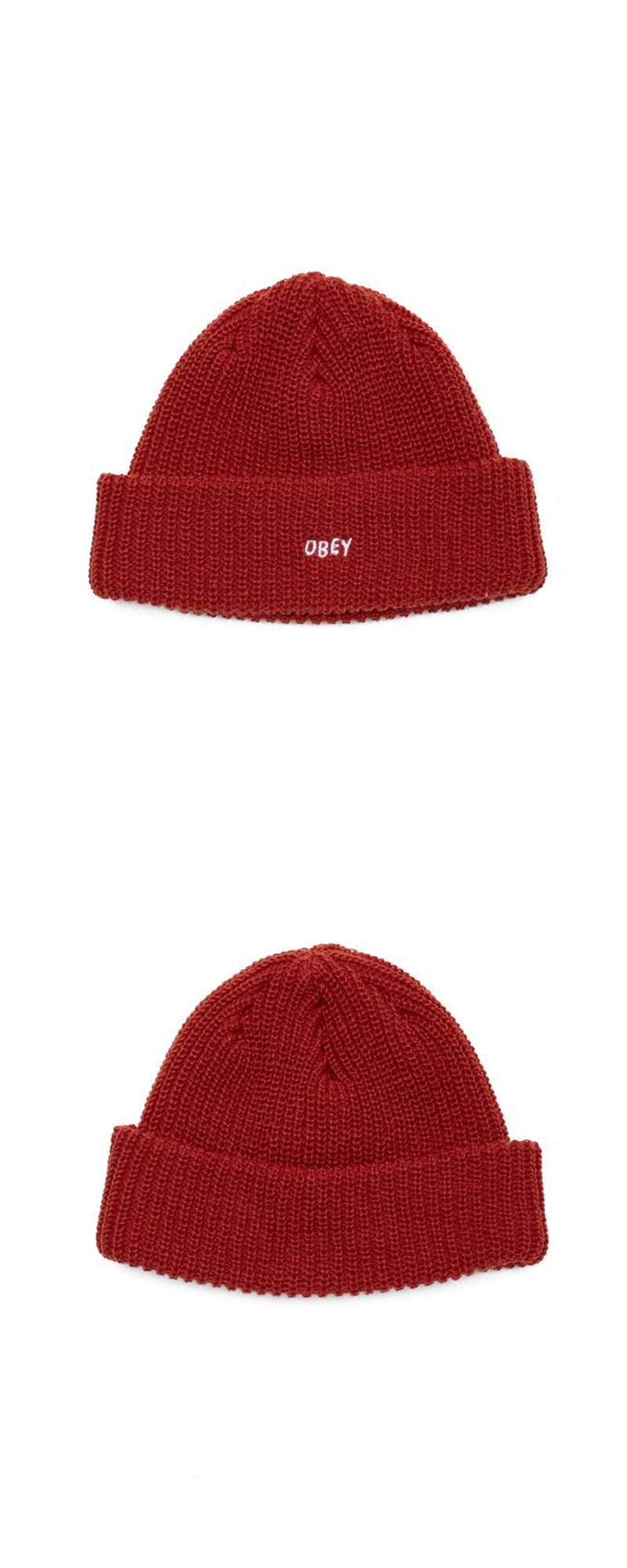 오베이 비니 JUMBLED BEANIE 100030145 BRICK RED