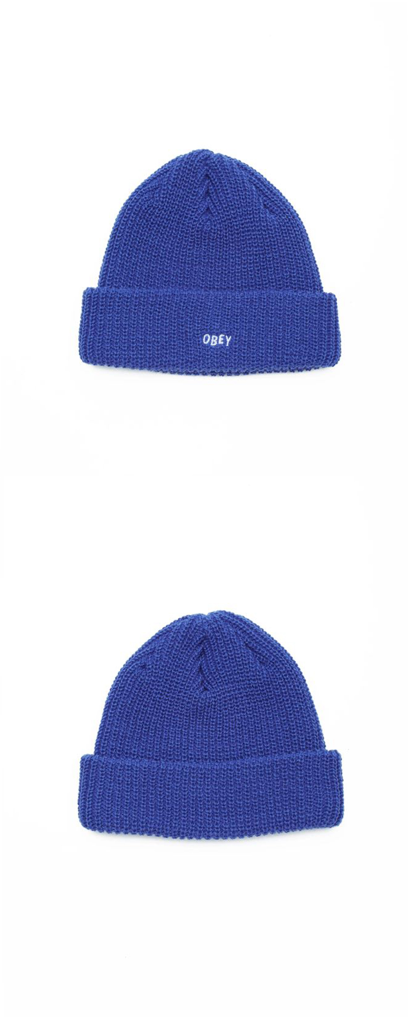 오베이 비니 JUMBLED BEANIE 100030145 ROYAL